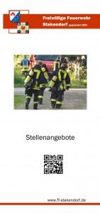 Flyer FF Stakendorf Stellenanzeige Seite 1